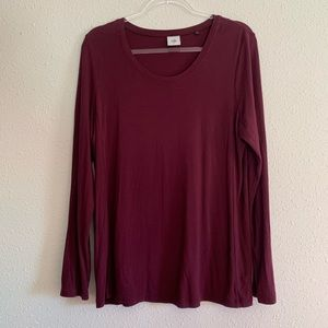 Cabi Chelsea Tee Long Sleeve Tunic #3409 Vino Wine